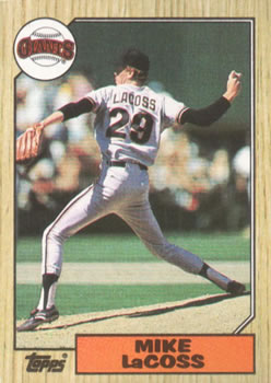 1987 Topps #151 Mike LaCoss Front