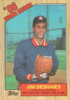 1987 Topps #2 Jim Deshaies Front