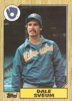 1987 Topps #327 Dale Sveum Front
