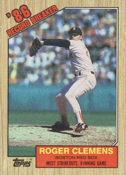 1987 Topps #1 Roger Clemens Front
