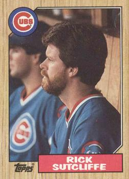 1987 Topps #142 Rick Sutcliffe Front