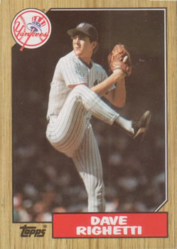 1987 Topps #40 Dave Righetti Front