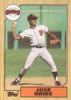1987 Topps #633 Jose Uribe Front
