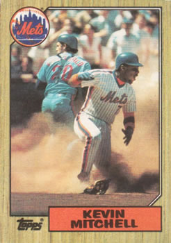 1987 Topps #653 Kevin Mitchell Front