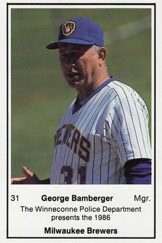 1986 Milwaukee Brewers Police - Winneconne PD #NNO George Bamberger Front