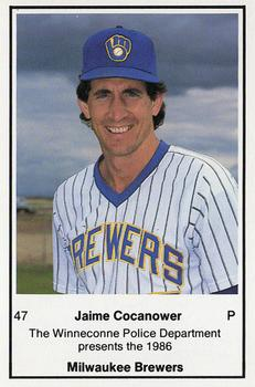 1986 Milwaukee Brewers Police - Winneconne PD #NNO Jaime Cocanower Front