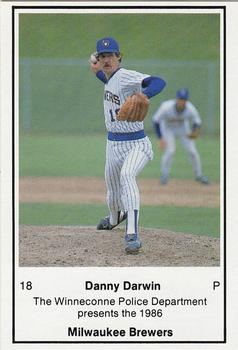 1986 Milwaukee Brewers Police - Winneconne PD #NNO Danny Darwin Front