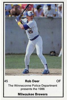 1986 Milwaukee Brewers Police - Winneconne PD #NNO Rob Deer Front