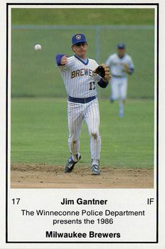 1986 Milwaukee Brewers Police - Winneconne PD #NNO Jim Gantner Front