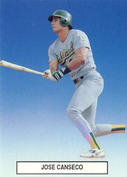1989 Broder Premier Player '89 Set # 1 #6 Jose Canseco Front
