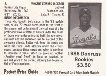 1989 Scd Baseball Card Price Guide Pocket Price Guides Baseball