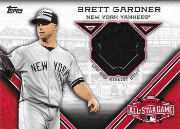 2015 Topps Update - All-Star Stitches #STIT-BG Brett Gardner Front