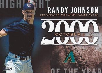 2015 Topps Update - Highlight of the Year #H-84 Randy Johnson Front