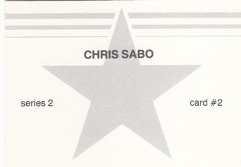 1988 Broder Series 2 Blue Border (Unlicensed) #2 Chris Sabo Back