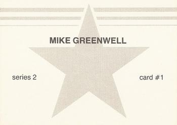 1988 Baseball Stars Series 2 #1 Mike Greenwell Back