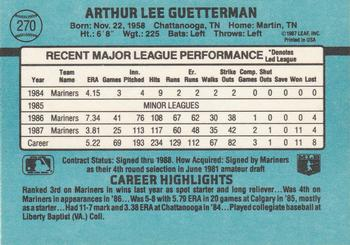 1988 Donruss #270 Lee Guetterman Back