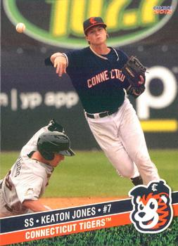 2015 Choice Connecticut Tigers #19 Keaton Jones Front