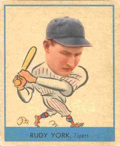 1938 Goudey Heads-Up (R323) #260 Rudy York Front