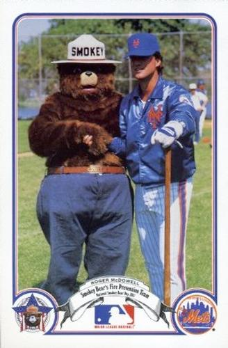 1987 Smokey Bear's Fire Prevention Team National League #6 Roger McDowell Front