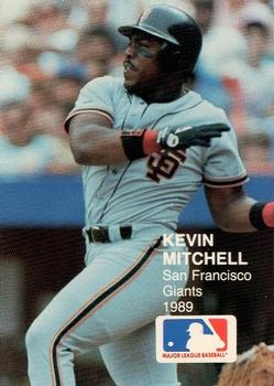 1989 Action Superstars MLB Logo Test #9 Kevin Mitchell Front
