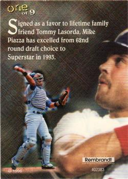 1996 Rembrandt Ultra Pro Mike Piazza Baseball Gallery