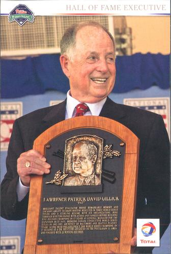2011 Total Philadelphia Phillies Postcard Set #NNO Pat Gillick Front