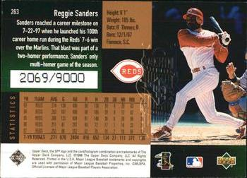 1998 SPx Finite #263 Reggie Sanders Back