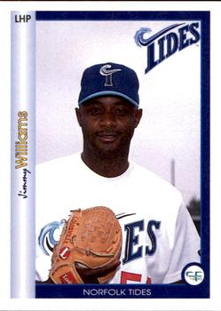 1995 All Sport Norfolk Tides #30 Jimmy Williams Front