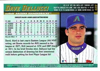 1998 Topps #409 David Dellucci Back
