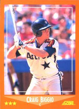 1988 Score Rookie & Traded #103T Craig Biggio Front