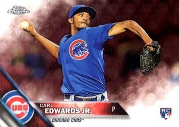 2016 Topps Chrome #85 Carl Edwards Jr. Front
