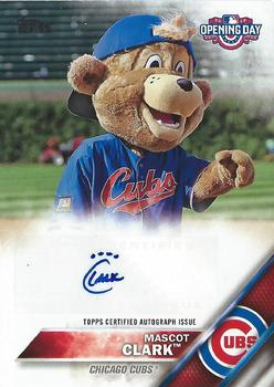 2016 Topps Opening Day Mascot Autographs Baseball Gallery The