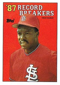 1988 Topps #1 Vince Coleman Front
