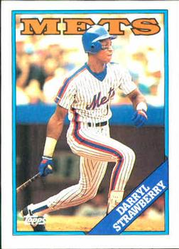 1988 Topps #710 Darryl Strawberry Front