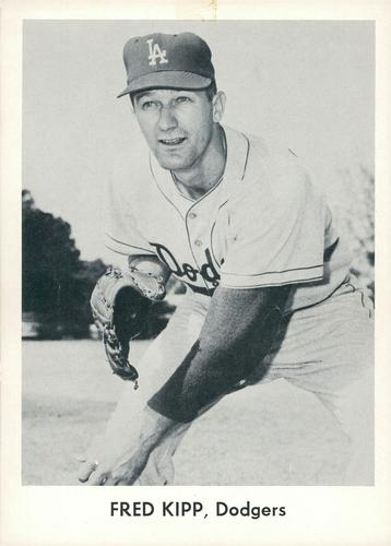 1958 Danny Goodman Los Angeles Dodgers Set A #NNO Fred Kipp Front