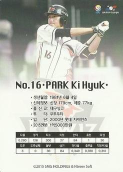 2015-16 SMG Ntreev Super Star Gold Edition #SBCGE-111-N Ki-Hyuk Park Back
