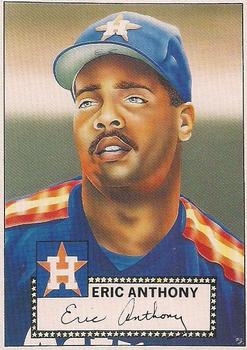 1990 Baseball Cards Presents Beginners Guide to Baseball Cards Repli-cards #2 Eric Anthony Front