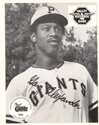 1976 Valley National Bank Phoenix Giants #NNO Gary Alexander Front