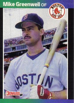 1989 Donruss #186 Mike Greenwell Front