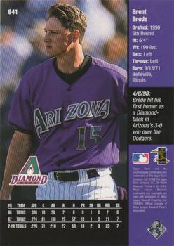 1998 Upper Deck #641 Brent Brede Back