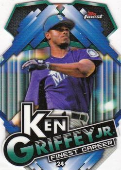 2016 Topps Finest Careers Die-Cuts #FCA-KG8 Ken Griffey Jr Cincinnati Reds Card