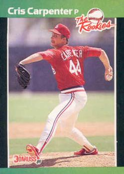 1989 Donruss Rookies #40 Cris Carpenter Front