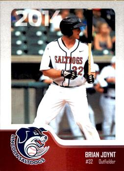 2014 Lincoln Saltdogs Team Issue #NNO Brian Joynt Front