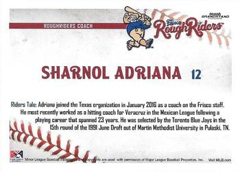 2016 Grandstand Frisco RoughRiders #NNO Sharnol Adriana Back