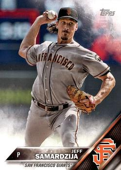 2016 Topps San Francisco Giants #SFG-6 Jeff Samardzija Front