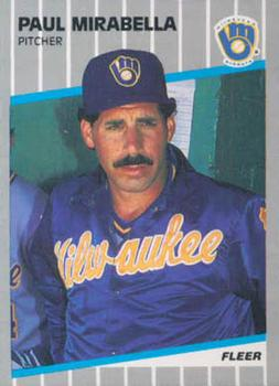 1989 Fleer #192 Paul Mirabella Front