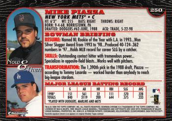 1999 Bowman Chrome #250 Mike Piazza Back