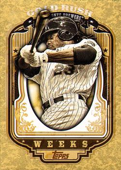 2012 Topps - Gold Rush Wrapper Redemption (Series 2) #63 Rickie Weeks Front