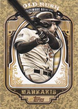 2012 Topps - Gold Rush Wrapper Redemption (Series 2) #80 Nick Markakis Front