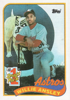 1989 Topps #607 Willie Ansley Front